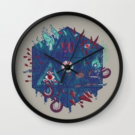 Die of Death Wall Clock
