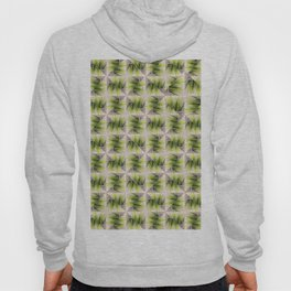 Abstract green grass and wood geometric design Hoody