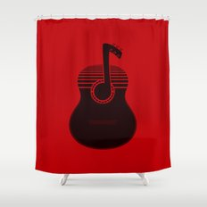 Classical Notes RED Shower Curtain