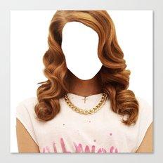 Lana Del face Canvas Print