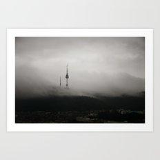 Seoul's Storm Art Print