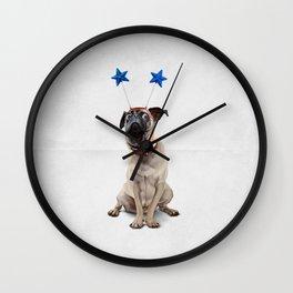 A Pug's Life (Wordless) Wall Clock