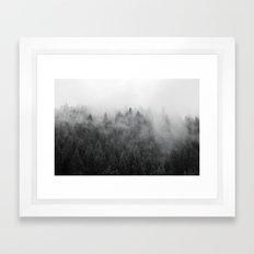 Black and White Mist Framed Art Print