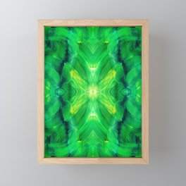 Brush play in hues of green 13 Framed Mini Art Print