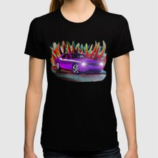 Plum Crazy Challenger Black Womens Fitted Tee LARGE