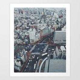Tokyo Blue Art Print