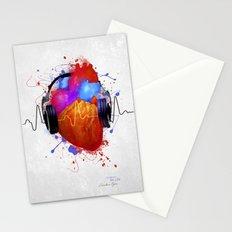 No Music - No Life Stationery Cards