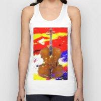 cello Tank Tops featuring Mellow Cello by Brian Raggatt
