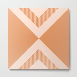 X Honey & Blush Metal Print