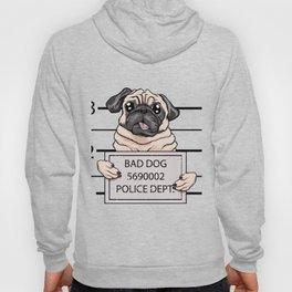 mugshot dog cartoon. Hoody