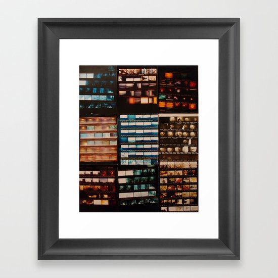 NEGATIVE Framed Art Print