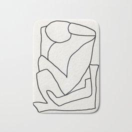 Abstract line art 2 Bath Mat