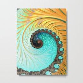Tropical Sunset - Fractal Art Metal Print