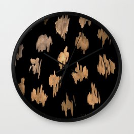 Strokes of brown paint Wall Clock