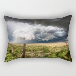 Aquamarine - Storm Over Colorado Plains Rectangular Pillow