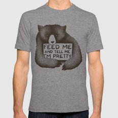 Feed Me And Tell Me I'm Pretty Bear Mens Fitted Tee Tri-Grey LARGE
