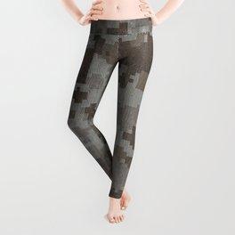 Desert Camouflage Retro Grunge Pattern Leggings