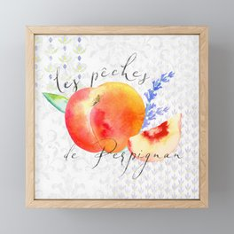 Les Pêches de Perpignan—French Country Peaches from Provence Framed Mini Art Print