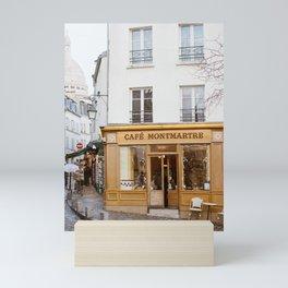 Cafe Montmartre - Paris Travel Photography Mini Art Print