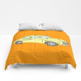 2 caballos viejo carro / old car custom spain ols model Comforters