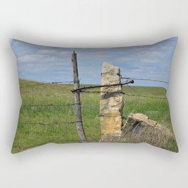 Kansas Limestone Gate Post Rectangular Pillow