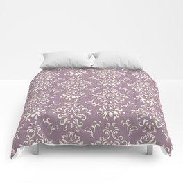 Decorative Pattern in Light Magenta and Cream Comforters