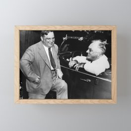 Franklin Roosevelt and Fiorello LaGuardia in Hyde Park - 1938 Framed Mini Art Print