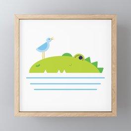 Crocodilly Framed Mini Art Print