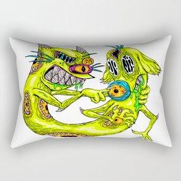 Cat Monster Dog Rectangular Pillow