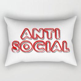 Anti Social Rectangular Pillow
