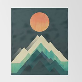 Ablaze on cold mountain Throw Blanket