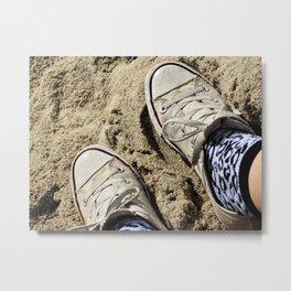 Converse on the Beach Metal Print