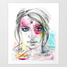 Emily Ratajkowski by Leo Tezcucano Art Print