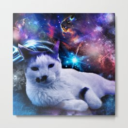 Skitty The Kitty Space Adventure Metal Print