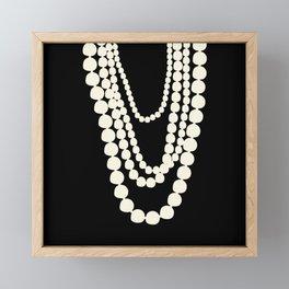 Fashion Pearls Framed Mini Art Print