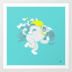 Save the Yeti Art Print
