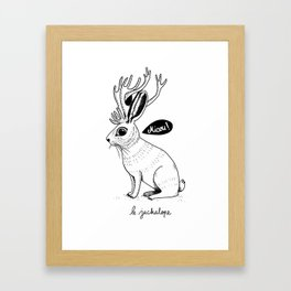 Le Jackalope Framed Art Print