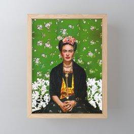 Frida Kahlo Green Framed Mini Art Print