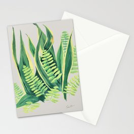 Snake and Fern Stationery Cards