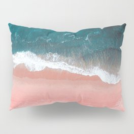 Turquoise Sea Pastel Beach III Pillow Sham