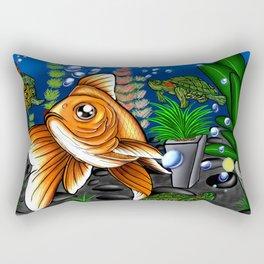 Goldfish and Terrapin Rectangular Pillow