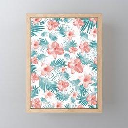 Tropical Flowers Palm Leaves Finesse #2 #tropical #decor #art #society6 Framed Mini Art Print