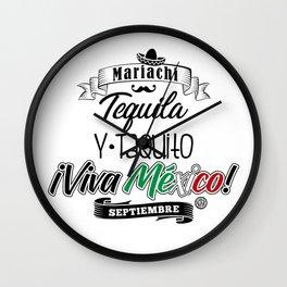 Tequila Taquito Wall Clock