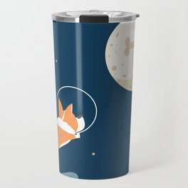 Fly to the moon _ navy blue version Travel Mug