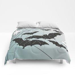 Bats & Monsters Halloween Spider Web Comforters