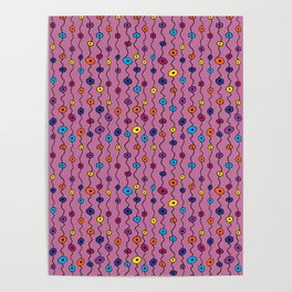 Electric Flower Buds Poster