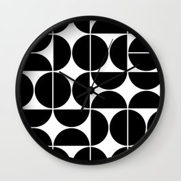 Mid Century Modern Geometric 04 Black Wall Clock