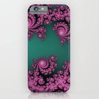 Fractal in Dark Pink and Green iPhone 6s Slim Case