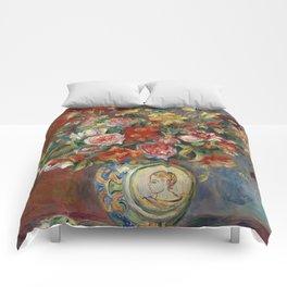 """Pierre-Auguste Renoir """"Vase de fleurs"""" Comforters"""