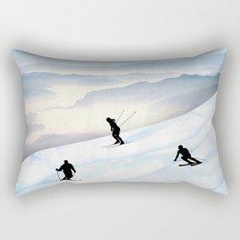 Skiing in Infinity Rectangular Pillow